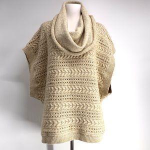 Splendid Cowl Neck Short Sleeve Dolman Sweater S